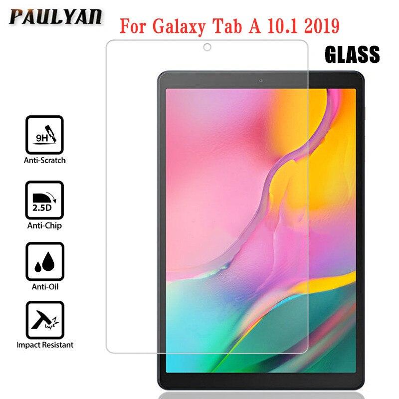 9H vidrio templado A prueba de arañazos para Samsung Galaxy ytab A 10,1 pulgadas 2019 SM-T510 T515 Protector de pantalla Ultra claro película HD
