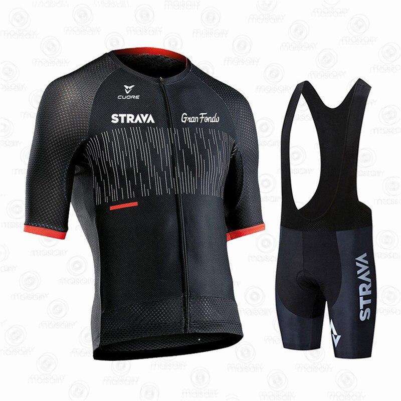 STRAVA-traje de Ciclismo profesional para hombre... Maillot de manga corta de Escocia...