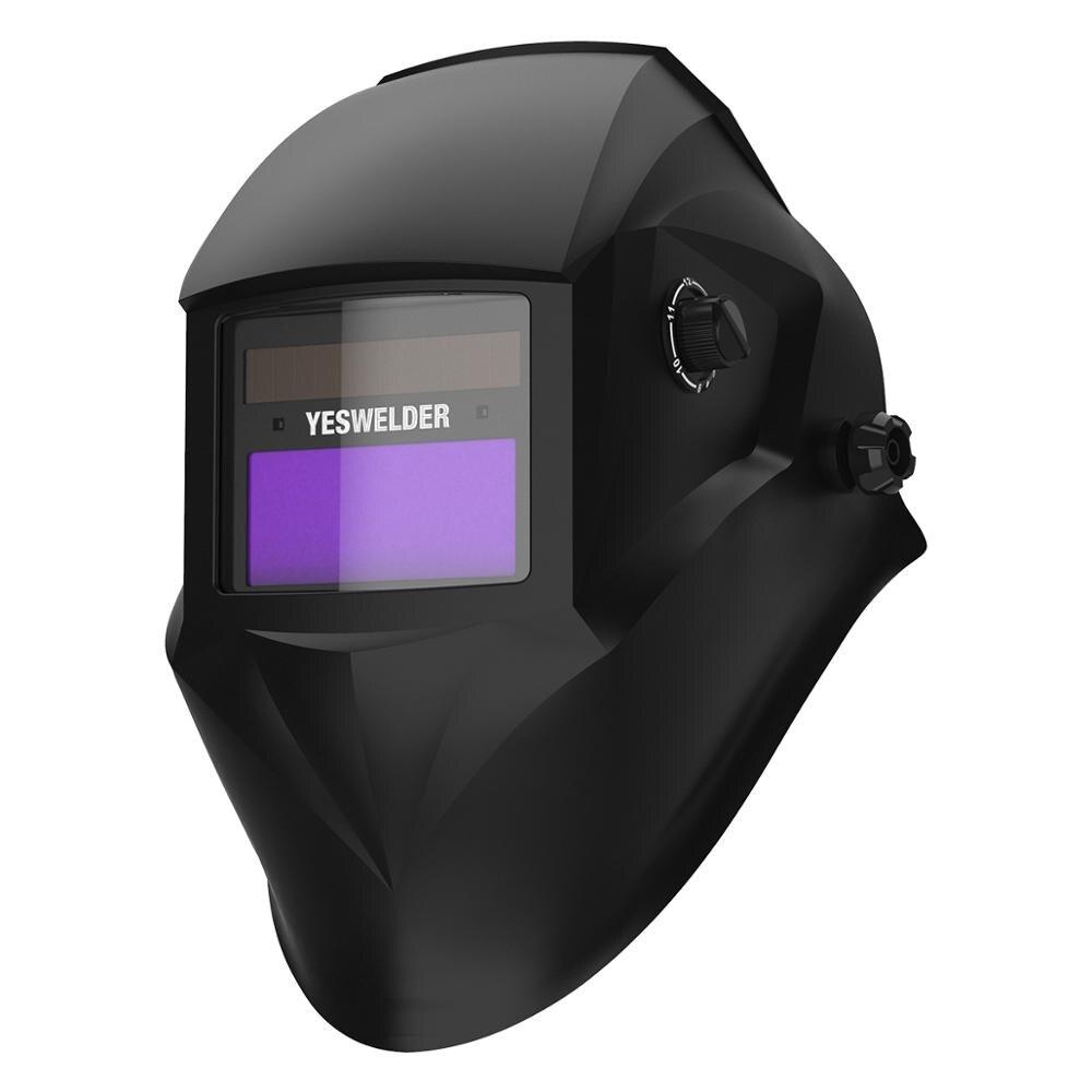 Сварочная маска YESWELDER, Сварочная маска с автоматическим затемнением, регулируемый диапазон, время работы 0,00001 с
