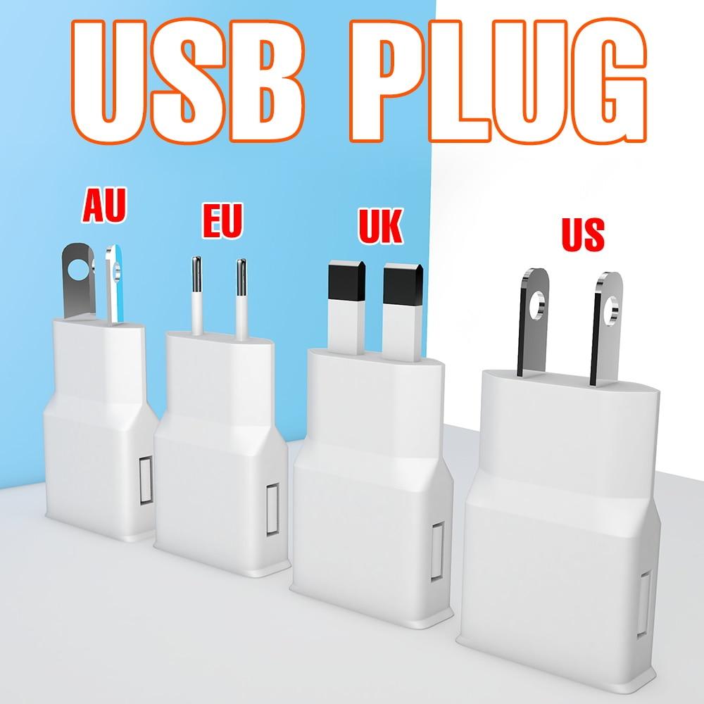 5V LED Light Strip Plug Adapter AU US EU UK Plug Converter USB LED Lamp Tape 0.5M 1M 2M FlexibleRibbonWaterproofLamp For Home