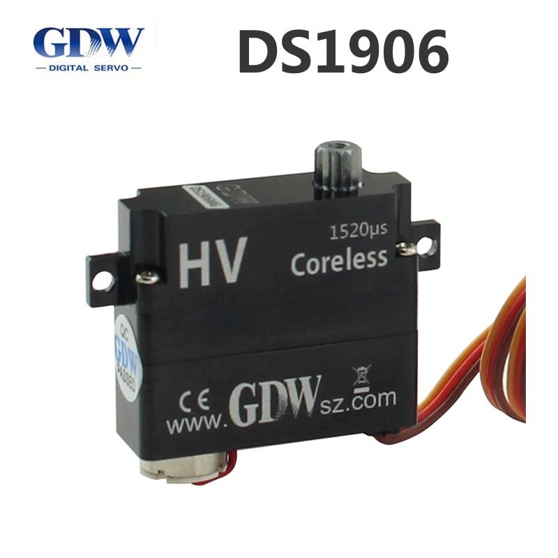 GDW DS1906 A B планер DLG F3K высокая скорость цельнометаллический цифровой мини рулевое управление 8 г заменяет KST X08