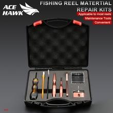 Ace Hawk FAI DA TE Baitcasting della Bobina di Pesca Matertial Kit di Riparazione Combo Strumenti di Manutenzione Spool Dispositivo di Smontaggio Spille