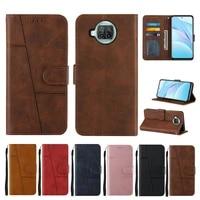 flip phone case on for xiaomi mi 11 10t lite poco m3 x3nfc redmi note 10s 10 pro 9s k40 retro leather splicing wallet card cover