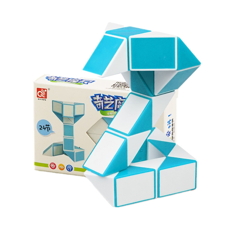 QIYI 24 Segment Magic Rule Snake Cubes Elasticity Elastic changed Popular Twist Transformable Kid Puzzle Toy for Children