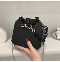 high quality lady candy color thick chain handbag 2021 new fashion acrylic handbag korean version single shoulder messenger bag