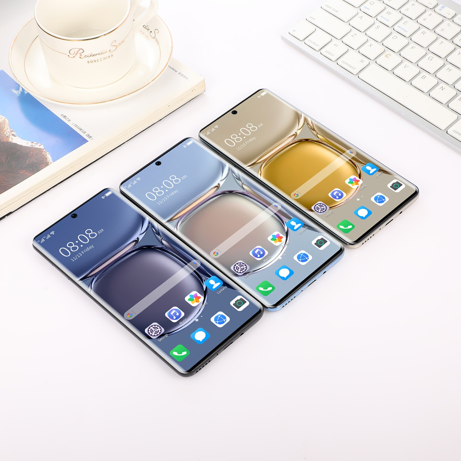 Cellphone HUAWE P50 Pro Global Version 8000mAh 7.3 '' Face ID Android 11 16G+512G 5G 10 Core Smartphone