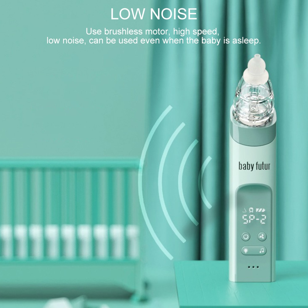 2 in 1 Baby Electric Nasal Aspirator Multifunction 9 Levels of Suction Nose Cleaner Mom beauty instrument  Blackhead Remover Bab enlarge