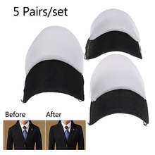 10pcs=5Pairs Soft Padded Shoulder Pad Encryption Foam Shoulder Pads For Blazer T-shirt Clothes Sewin