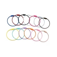 10pcs stainless steel wire cable rope key holder keyring circle loop camp luggage tag screw for keychain jewelry making supplies