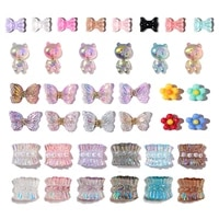 50pcs aurora multi shapes nail art 3d charms holographic uv polish resin gems for manicure nail accesoires colorful supplies