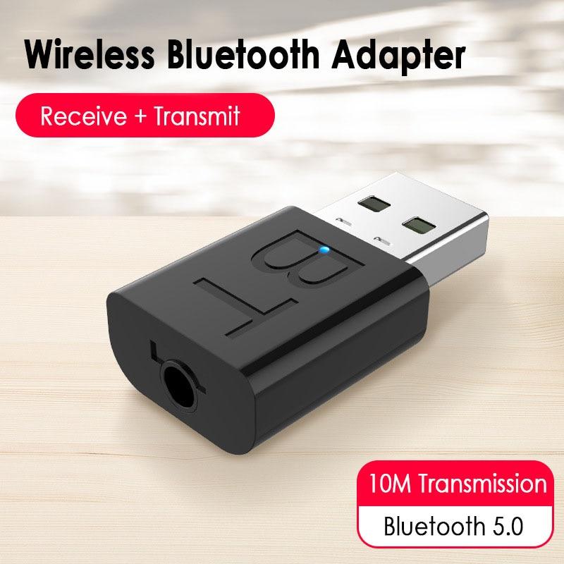 Receptor inalámbrico con Bluetooth y Adaptador 2 en 1, receptor inalámbrico inteligente con Bluetooth para CP, TV, altavoz, auriculares, ratón y teclado, 1 unidad