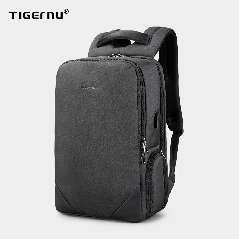 Tigernu-حقيبة ظهر للكمبيوتر المحمول مقاس 15.6 بوصة للرجال ، حقيبة ظهر للكمبيوتر المحمول مع شحن USB ، مقاومة للماء ، حقيبة سفر مقاومة للسرقة ، حقائب م...