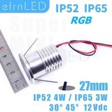 Etrn LED étanche Mini projecteur RGB 12V intégré ampoule de Led de plafond sous la lumière de larmoire pour la maison salle de bain Sauna Dimmable CREE