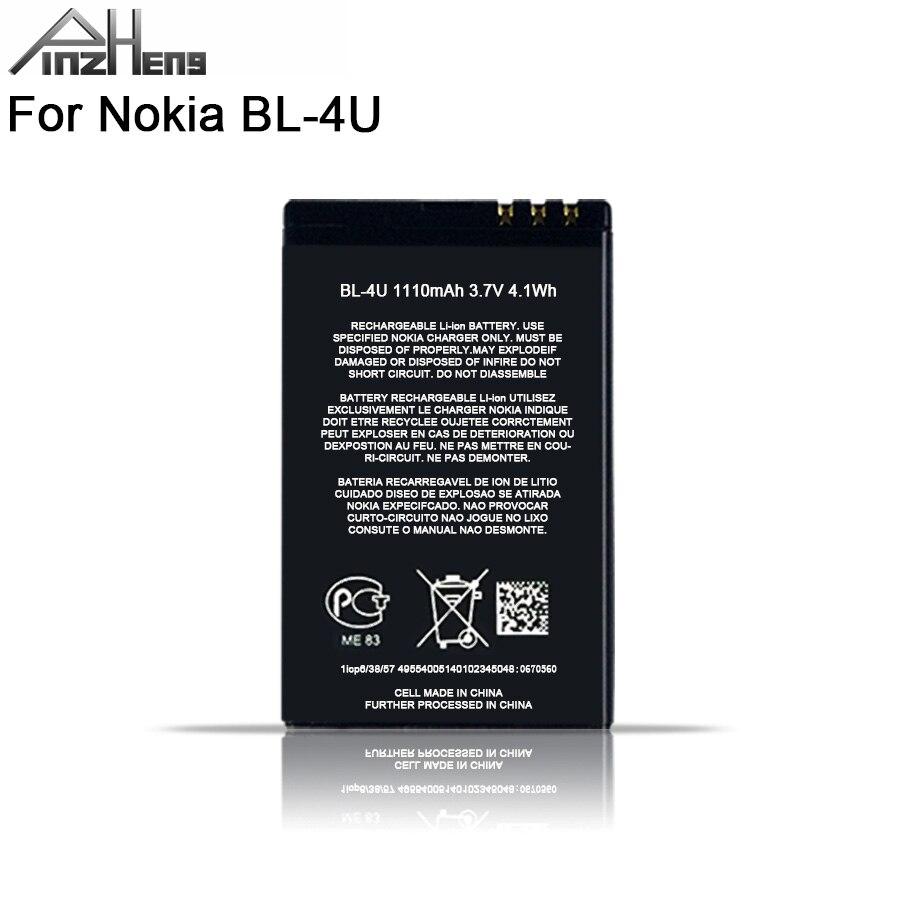 2019 PINZHENG 100% Original BL-4U Phone Battery For Nokia BL 4U BL-4U BL4U E66 C5-03 5530 5730 Replacement Nokia BL 4U Battery