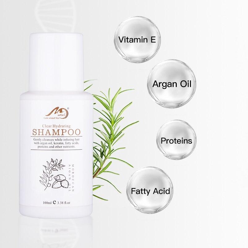 Купить с кэшбэком Moroccan Argan Oil Shampoo Profissional Muriel Hydrating and Natural Shampoo Improve Frizz 100ml