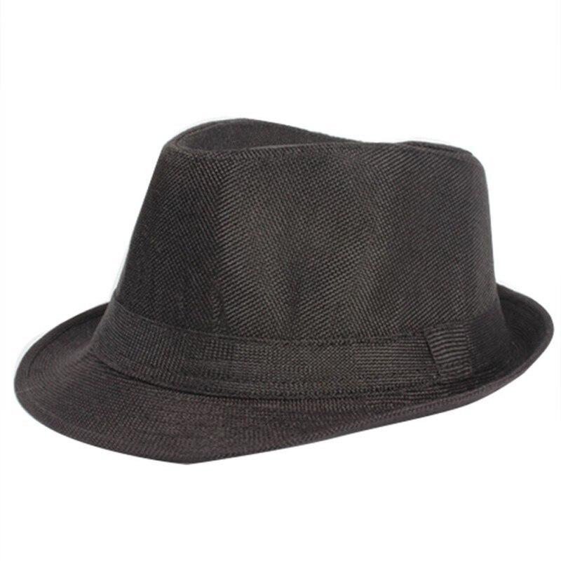 Summer Women Men Wide Brim Sun Hats Unisex Fedora Panama Trilby Straw Hat Sun Beach Cap Travel Sunhat Black Ribbon