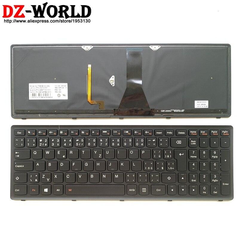 Nuevo/original Teclado retroiluminado checo para Lenovo Ideapad G500S G510s G505s S510P Flex 15 Z510 Laptop Teclado 25214167
