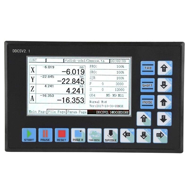 DDCSV2.1 soporte de controlador sin conexión USB 4 ejes CNC controlador interfaz CNC enrutador grabado fresadora