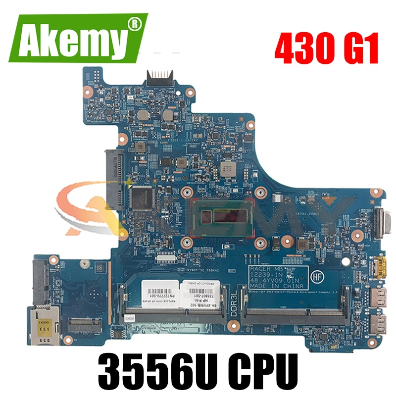 ل HP Probook 430 G1 12239-1N 740610-001 SR1E3 Pentium 3556U دفتر اللوحة الأم اختبار كامل 100% العمل