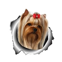 dawasaru yorkshire terrier lovely pet dog car sticker waterproof decal motorcycle auto accessories decoration pvc13cm12cm