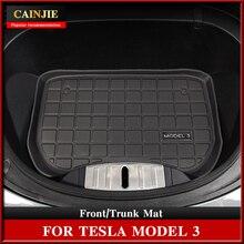 New Model 3 Car Front Trunk Mat For Tesla Model 3 2021 Accessories TPE Upper Trunk Mat Waterproof Lo