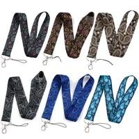 fd0775 bohemian pattern lanyard for keys mobile phone hang rope keycord usb id card badge holder keychain diy lanyards