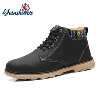 yeinshaars men boots winter shoes men waterproof snow boots with warm plush winter footwear male casual boots sneakers big size