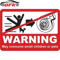cartoon turbo warning car sticker motorcycle auto accessories personalized pvc decoration high quality waterproof decal 96cm