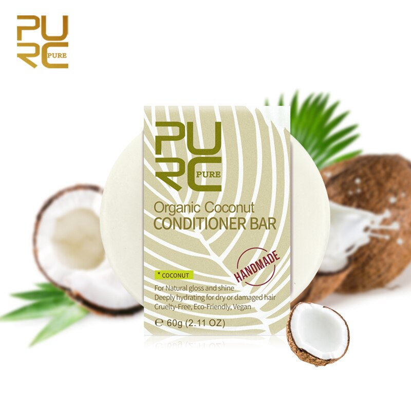 PURC Organic Hair Coconut Conditioner Bar Handmade Solid Hair Conditioner Soap Deeply Hydrating for Dry Damaged Wholesale