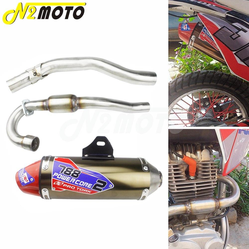 Tubo de escape completo para motocicleta, tubo de escape para moto de cross, sistema completo para Honda CRF150F CRF230F 03-16 CR CRF XR