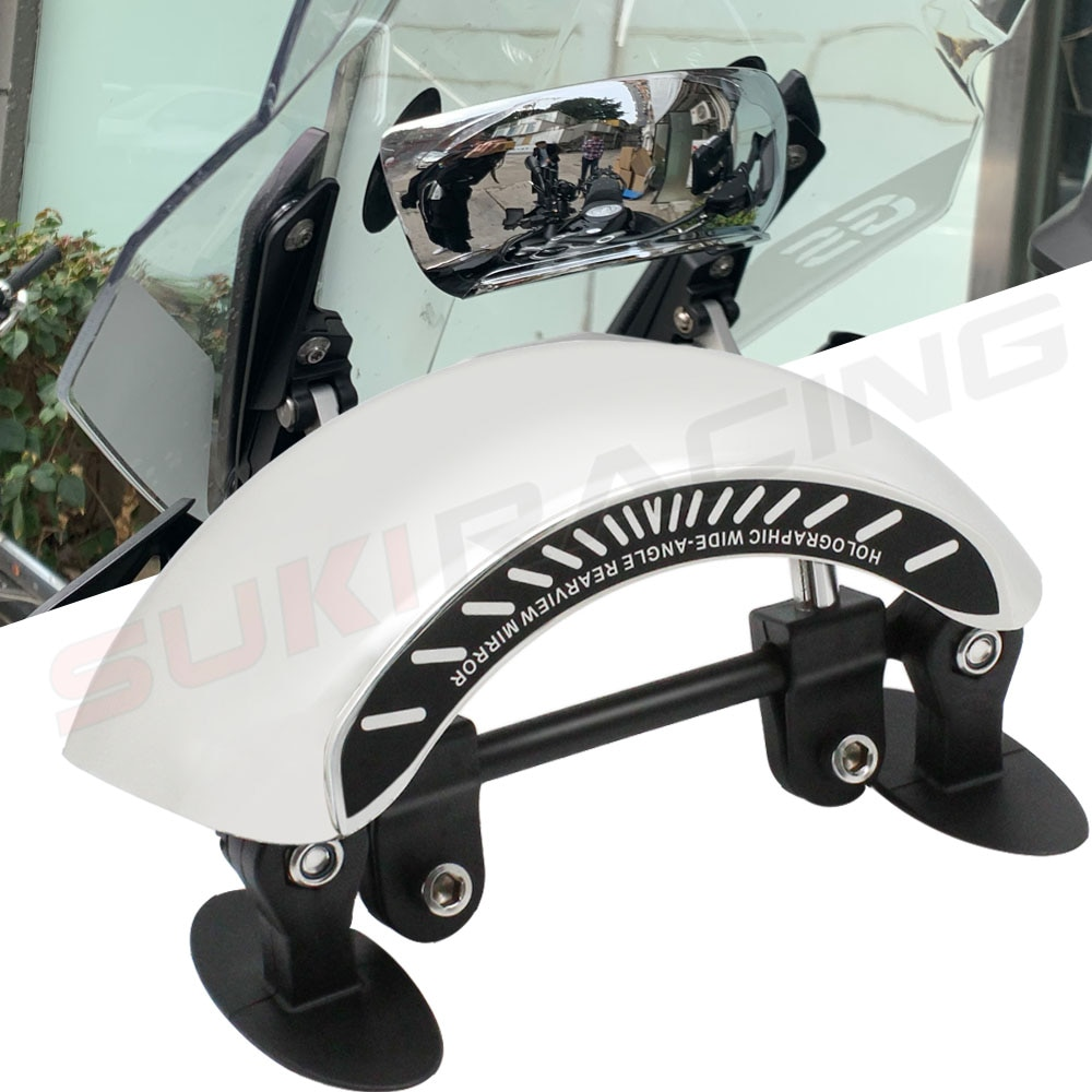 Para DUCATI ST3 HyperStrada BMW R1200RT S1000XR R1200RS K1600GT K1300S K1200LT gran angular espejo retrovisor accesorios de motocicleta