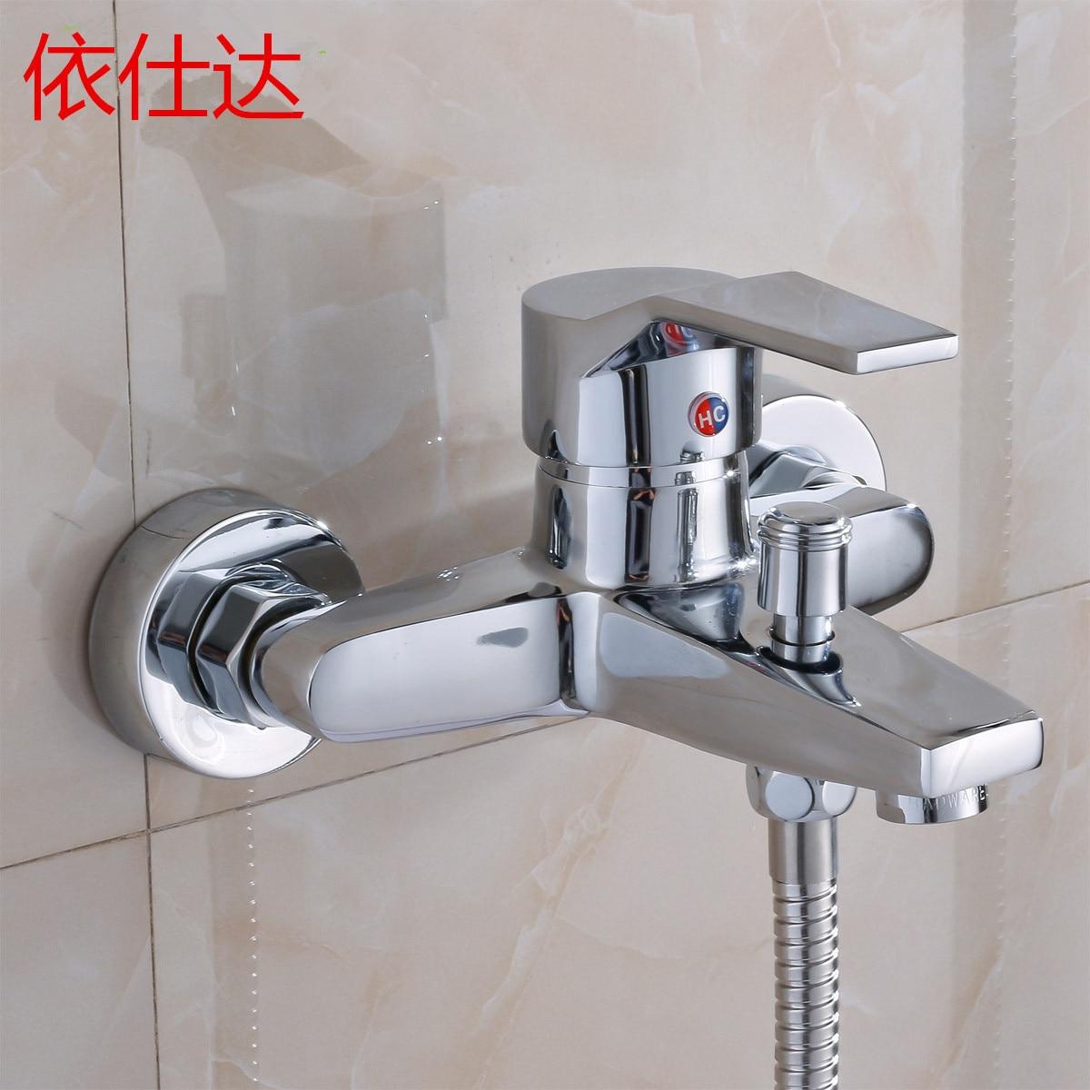 Chrome Thermostatic Bathtub Faucet Freestanding Bath Shower Set Rotate Spout Floor Mounted Tub Mixer Tap Plastic Handshower