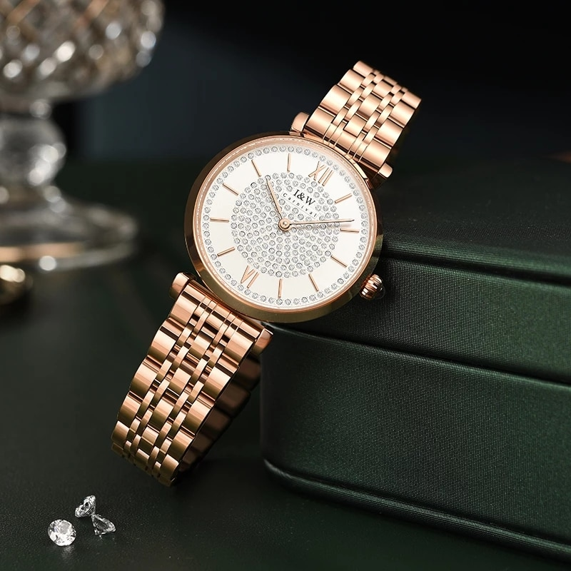 CARNIVAL Brand Luxury Women Rose Gold Watch Ladies Fashion Waterproof Bracelet Quartz Wristwatches Female Clock Relogio Feminino enlarge