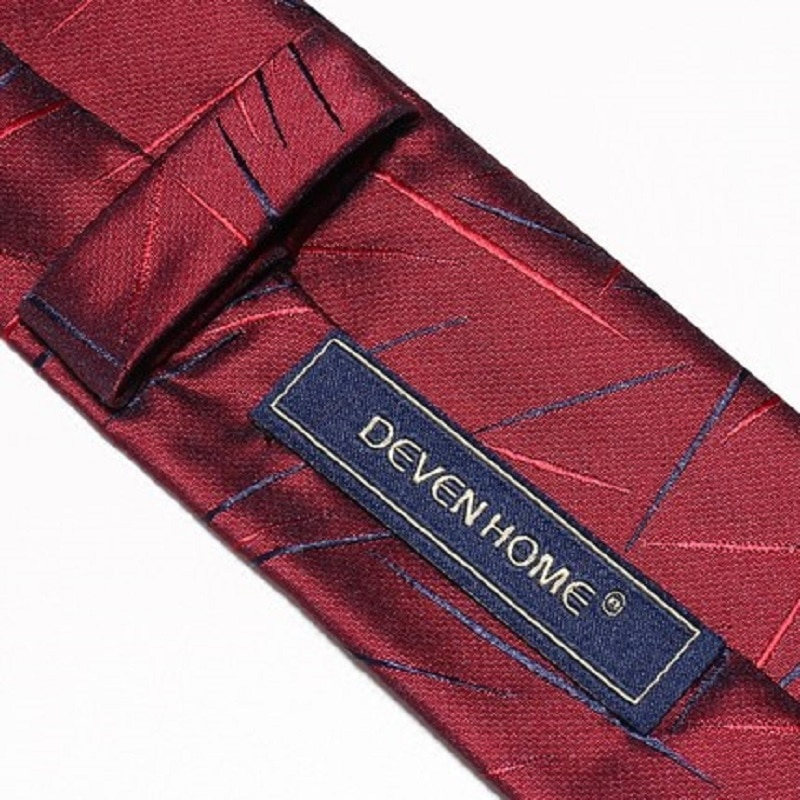 2020 Brand New Fashion High Quality Mens 5CM Slim Wine Red Pattern Necktie Wedding Formal Suit Neck Tie for Men with Gift Box