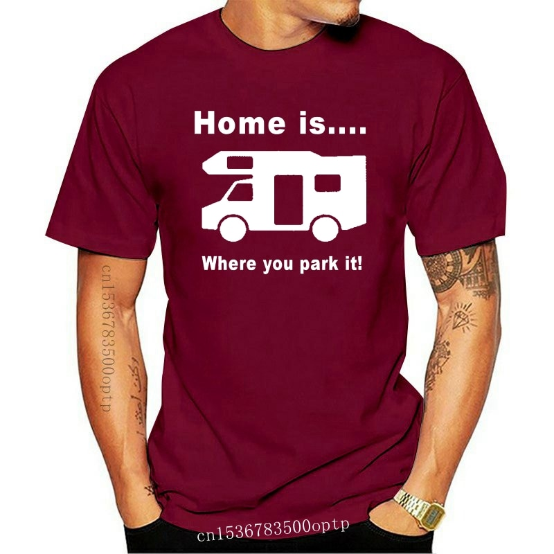 New Home is Where you Park It Motorhome Caravan Camping Mens Funny T-shirt