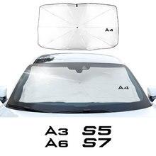 Лобовое стекло автомобиля солнцезащитный Зонт Обложка козырек от Солнца протектор для Audi A3 8P A4 B8 A6 S1 S2 S3 S4 S5 S6 S7 S8 SQ5 SQ7 аксессуары