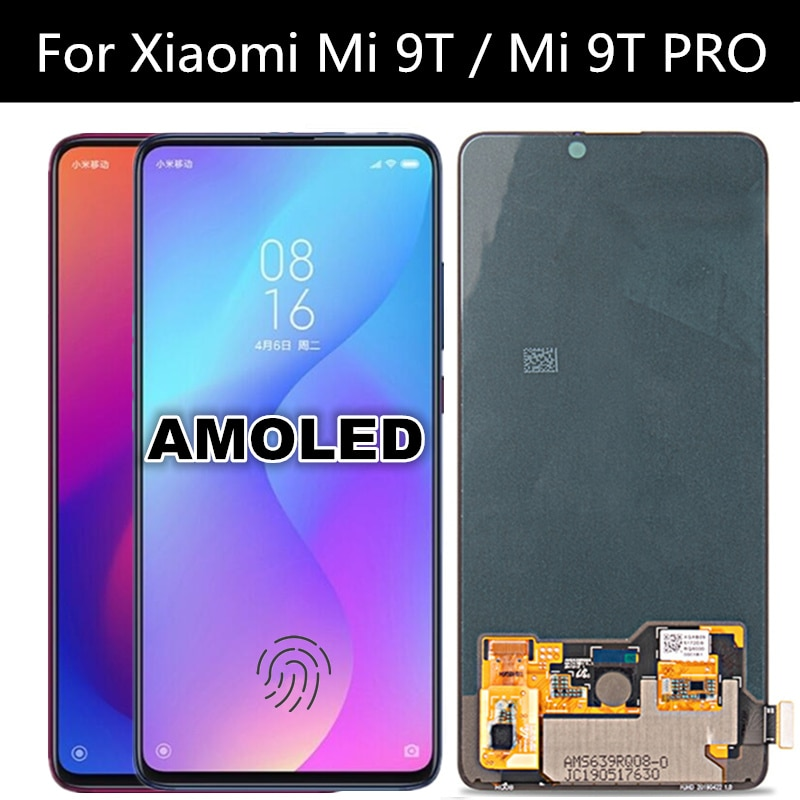 6.39'' AMOLED For Xiaomi9T MI9T Pro Redmi K20 LCD Display Touch Screen Assembly Replace For Redmi K20 PRO LCD with fingerprint enlarge