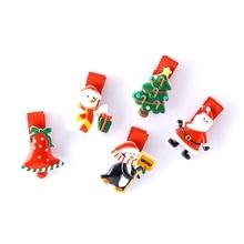 Christmas Hair Clip Xmas Tree Santa Claus Headwear Hair Accessory For Girl Kid New Year Xmas Party Decoration Acrylic Hair Clips