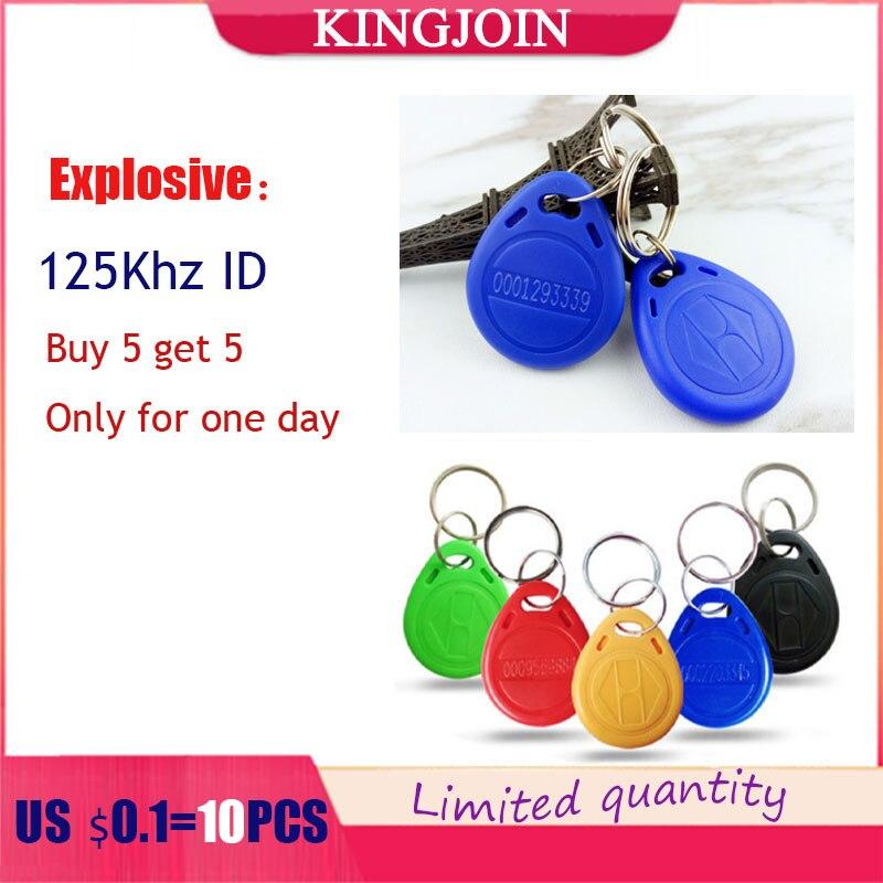 kingjoin5pcs125Khz key fob, home RFID tag reading, encrypted key fob reading, read-only, no copying, no erasing,Buy 5 get 5 free