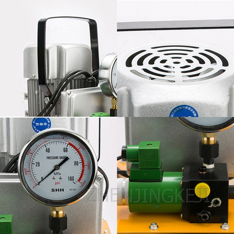 220V / 380V Electric Hydraulic Pump Portable 750W High Pressure Pump Hand Switch / Foot Switch With Shockproof Pressure Gauge