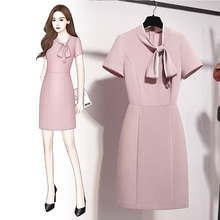 Business Dress 2021 New Summer Temperament Goddess Style Front Desk Frock Jewelry Store High-End Bea
