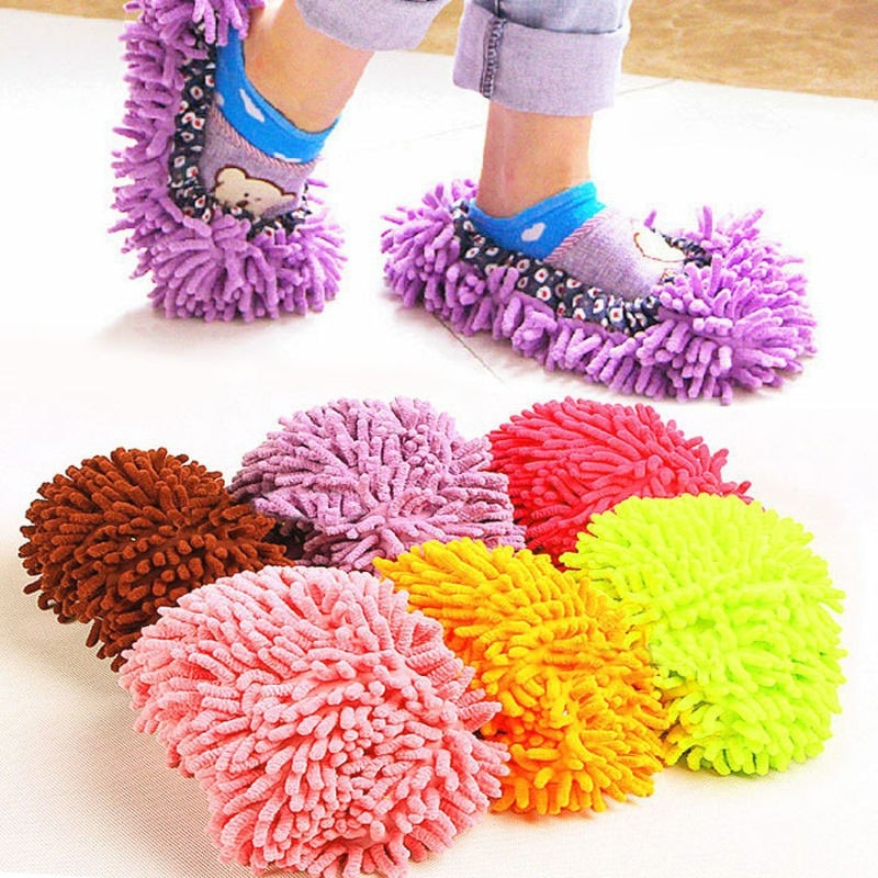 метелка для пыли boomjoy dust mop 68 86 см 1Pc Dust Mop Slipper House Floor Cleaner Dusting Cleaning Foot Shoe Cover Dust Mop Slipper Home Cleaning Tool