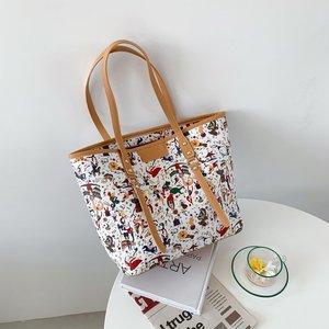 Large-capacity printing Shoulder bag  Female Luxury  Handbags PU Leather Simple tote bag Bags For Women 2021 new  Shopping Bag