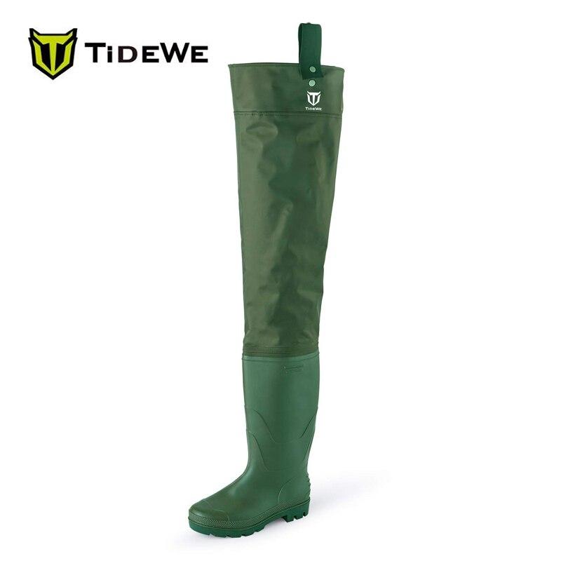 TideWe легкие двухслойные ПВХ/нейлон для ловли нахлыстом бедер сапоги охоты ботинки