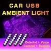 USB 24 נוריות מכונית רגל אור הסביבה מרחוק קישוט מנורת עבור גילוי טווח רובר Evpque Defender 3 4 וילוני Freelander ספורט