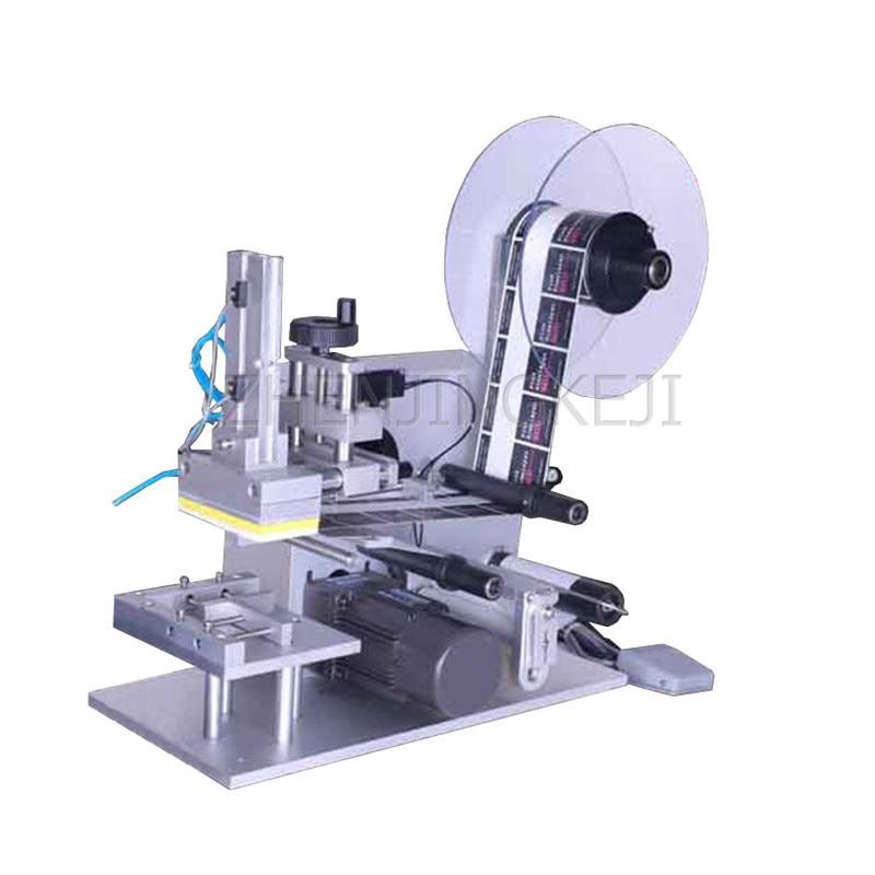 ماكينة لصق مسطحة شبه آلية ، 220 فولت/200 وات ، صندوق ورقي ، ملصقات بلاستيكية ، بدون فقاعات ، مضادة للتجاعيد ، أدوات عالية الكفاءة
