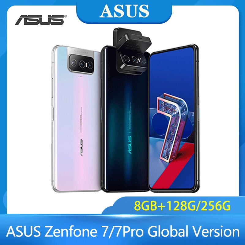 ASUS Zenfone 7/7Pro Global Version 8GB RAM 128G/256GB ROM Snapdragon 865/865Plus 5000mAh NFC Android Q 90Hz 5G Smartphone Phone