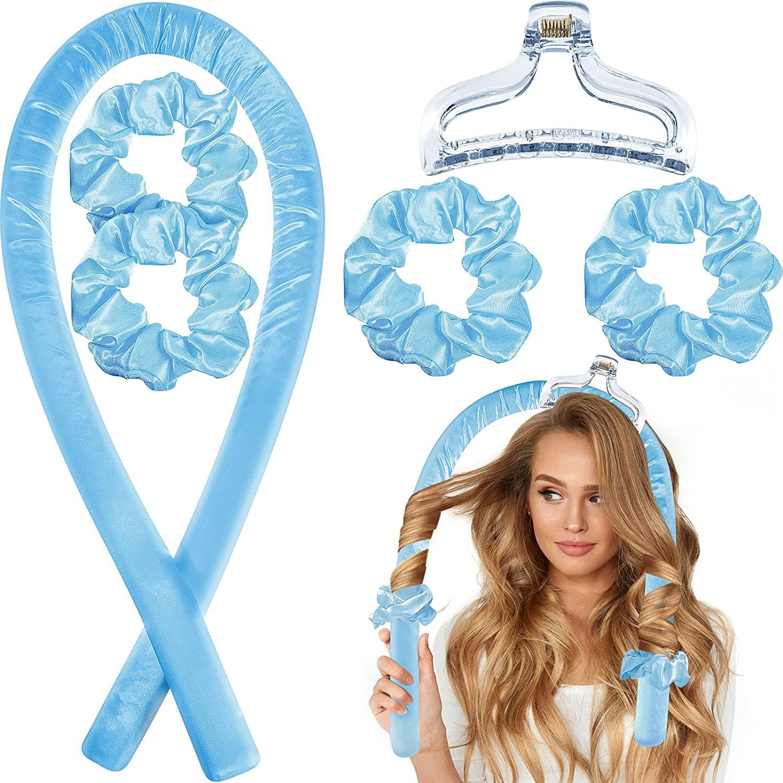 Heatless Curling Rod Headband No Heat Curls Silk Ribbon Hair Roller Sleeping Soft Headband Wave Form
