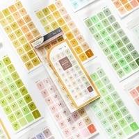 12pcslot cool ins fashion retro index sticker set diy calendar dates theme label sticker gift