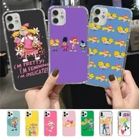 hey arnold phone case for iphone 11 12 13 mini pro xs max 8 7 6 6s plus x 5s se 2020 xr case